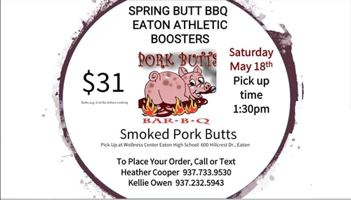 Athletic Boosters Spring Pork Butt BBQ Sale