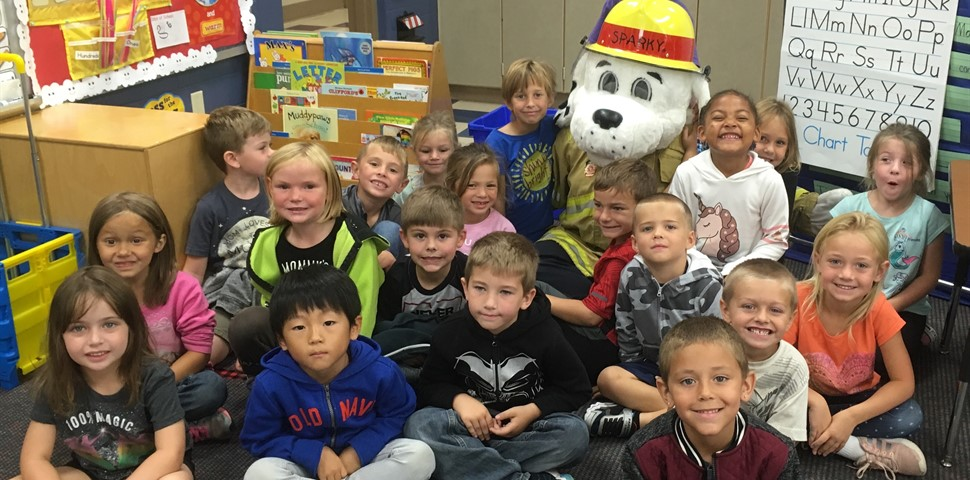 We appreciate the Eaton Fire Department taking time out of their day to teach our students about fire safety!