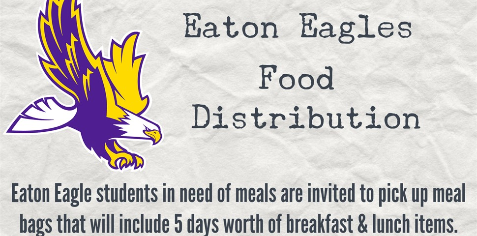 Food distribution to students on Thursdays from 5:00 p.m. until 7:00 p.m.