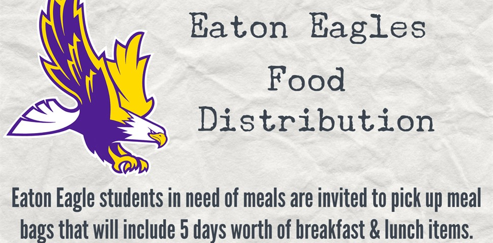 Food Distribution on Thursdays 5:00 p.m. until 7:00 p.m.